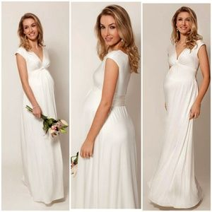 1c044a307eaa Tiffany rose Maternity CLARA GOWN LONG IVORY